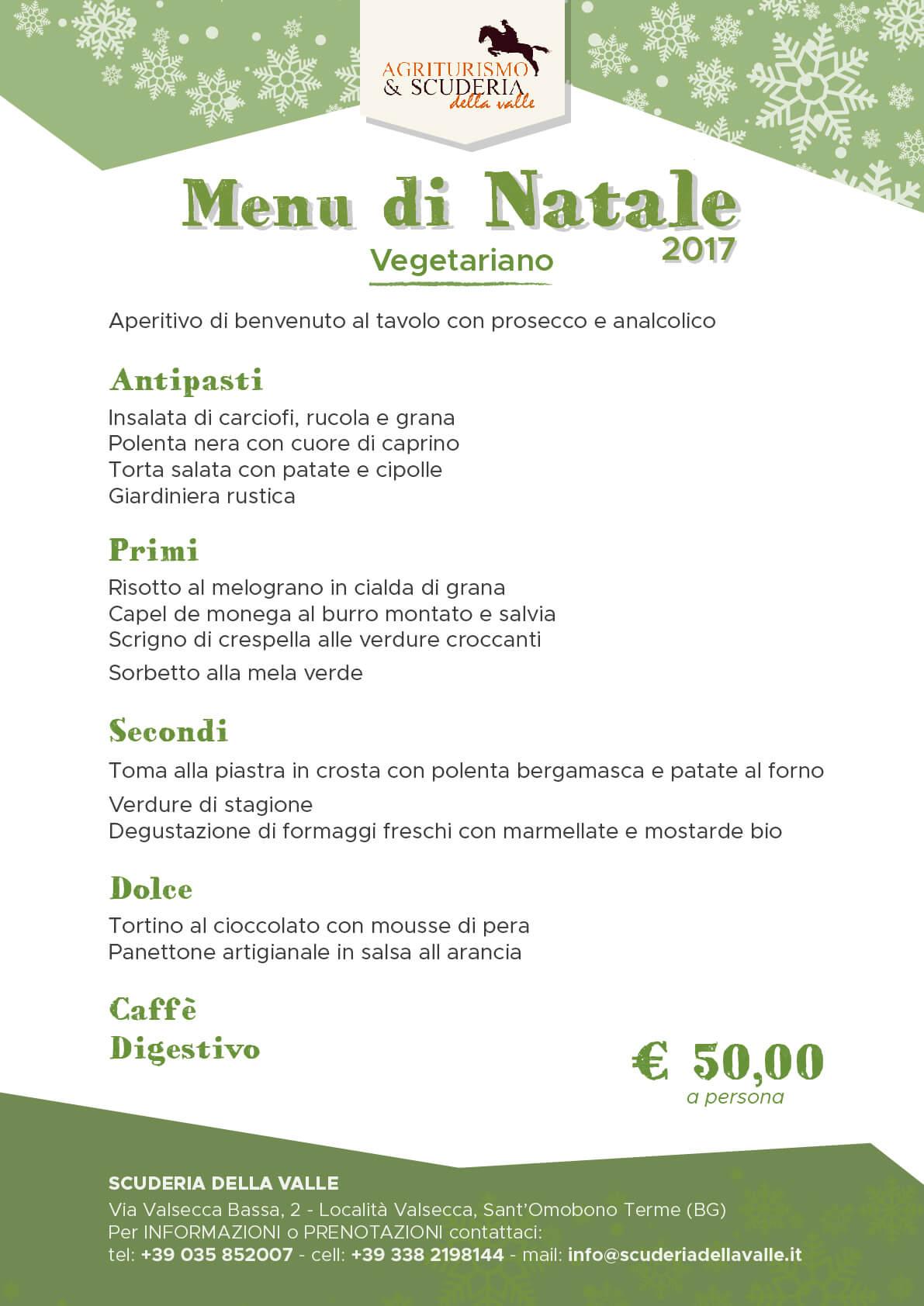 Menu di Natale tradizionale - Scuderia della Valle (Bergamo)