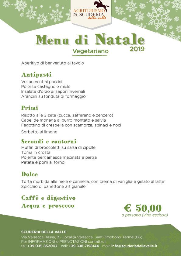 Menu di Natale 2019 a Bergamo - vegetariano